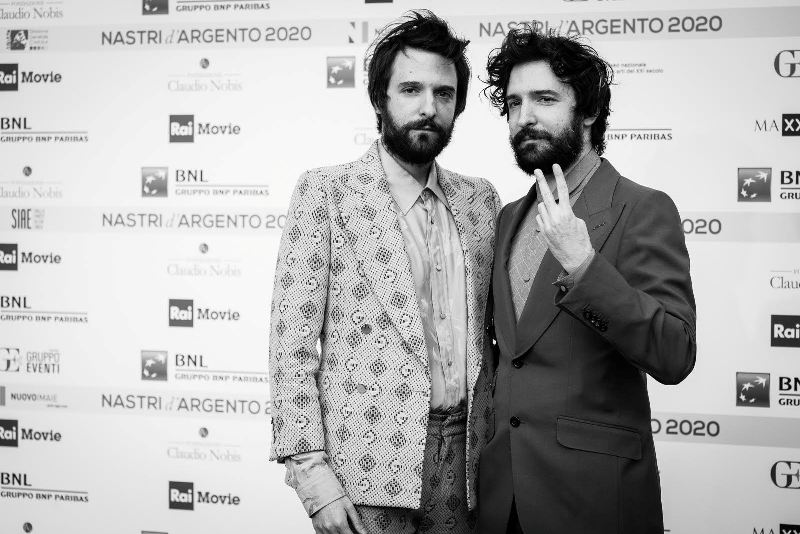 ROME, ITALY - JULY 06: Damiano D'Innocenzo and Fabio D'Innocenzo attends the 74th edition of the Nastri D'Argento 2020 on July 06, 2020 in Rome, Italy